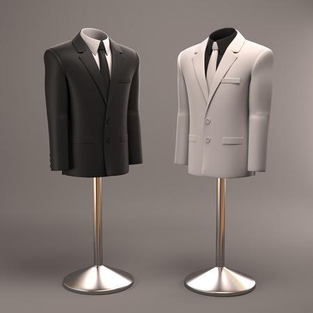 office attire: formal suits on shop mannequins