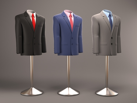 tailored: formal suits on shop mannequins