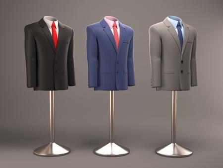 mannequins: formal suits on shop mannequins