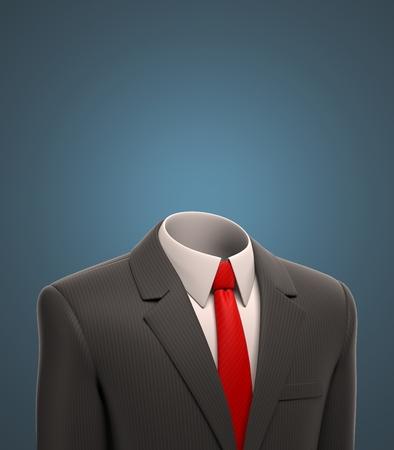head wear: empty business suit 3d illustration