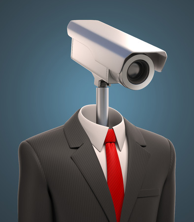 business suit: robotic security camera