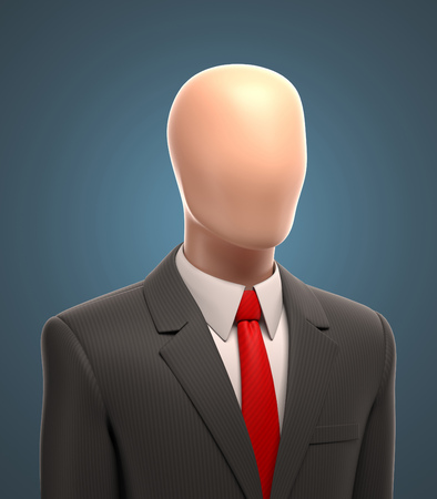 faceless: faceless businessman 3d illustration