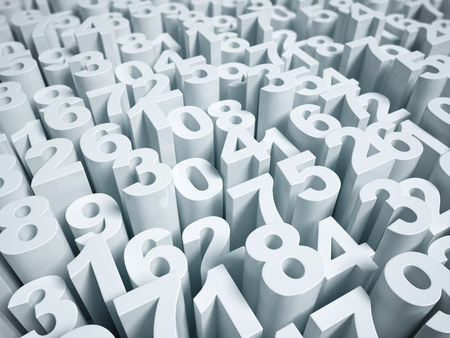 numerical: numerical abstract background