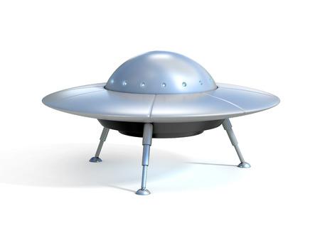 spaceship: Alien spaceship - ufo Stock Photo