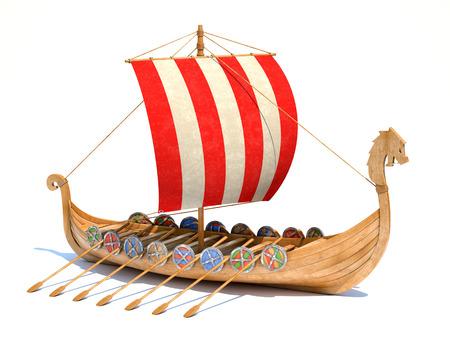 Vikingschip Stockfoto