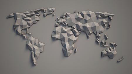 3d triangulaire carte du monde Banque d'images - 46355889