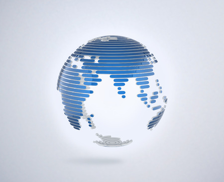 map of the world: abstract 3d globe Stock Photo