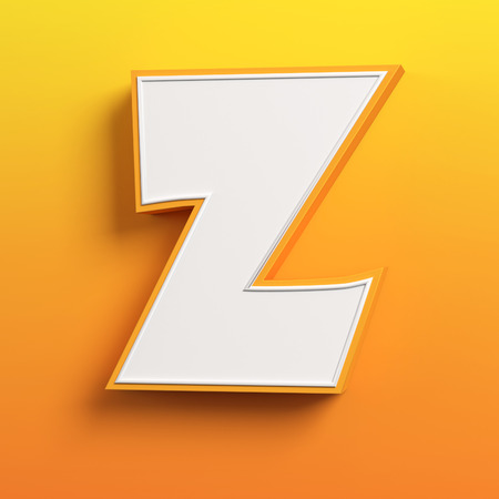 letter z: cartoon 3d font letter Z Stock Photo