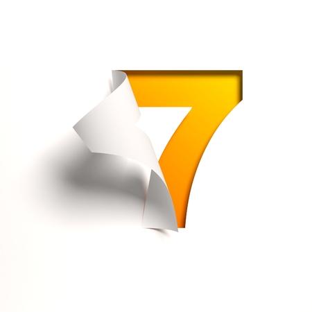 Krul papier lettertype nummer 7