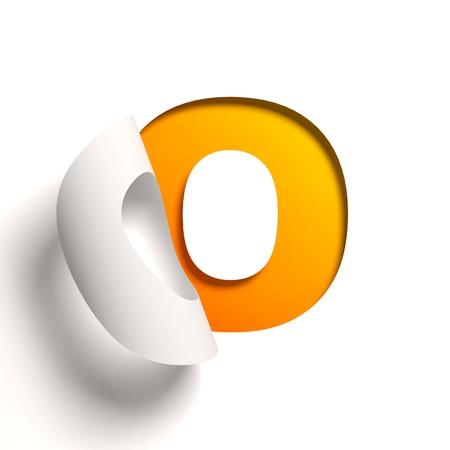 cocao: Curl paper font  letter O
