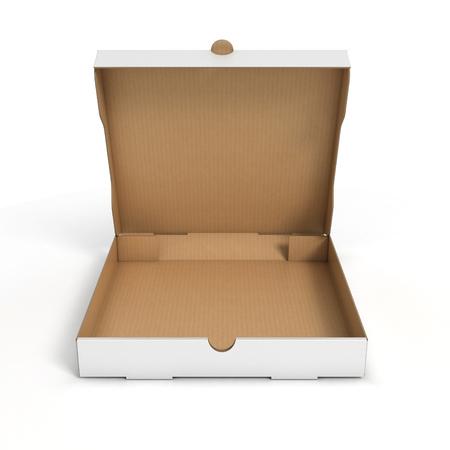 pizza: caja de pizza abierta Foto de archivo