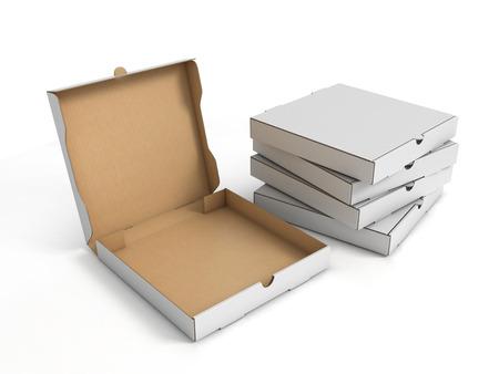 pizza boxes Archivio Fotografico