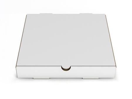 pizza box: blank pizza box isolated