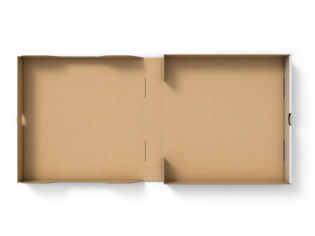 product box: empty pizza box Stock Photo