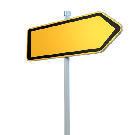 flechas direccion: en blanco las señales de tráfico Foto de archivo