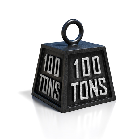 tonne: hundred 100 tons weight