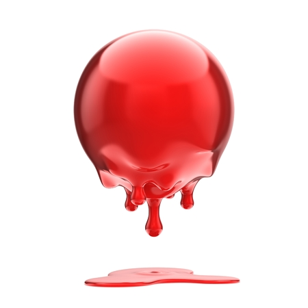 dripping: melting red ball