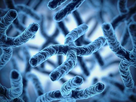 biology backgrounds: chromosomes 3d illustration