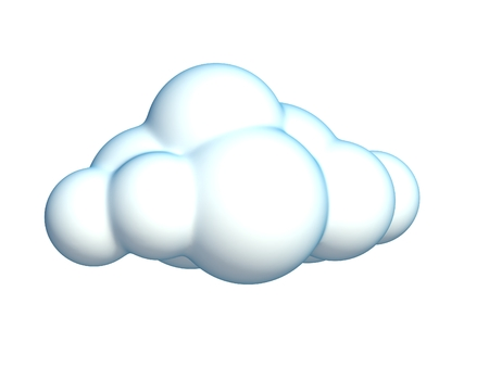 clouds in sky: cartoon cloud