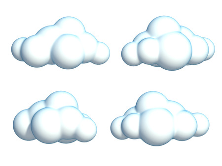 serie di cartoon nuvole