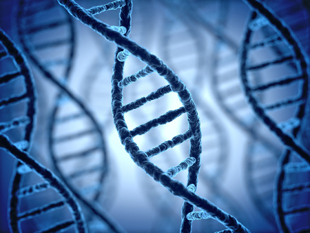 biotech: DNA structure 3d background Stock Photo