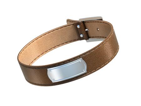 animal sex: dog collar 3d illustration