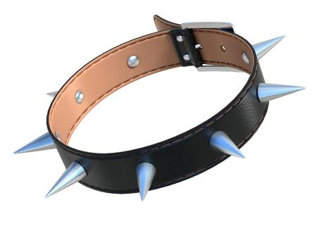 sex symbol: dog collar 3d illustration