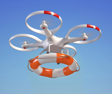 rescuing: Rescuing drone with the lifebuoy