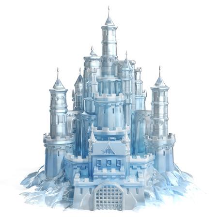 氷の城の 3 d 図 写真素材