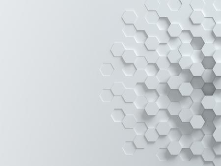 fondos azules: hexagonal 3d abstracto de fondo Foto de archivo