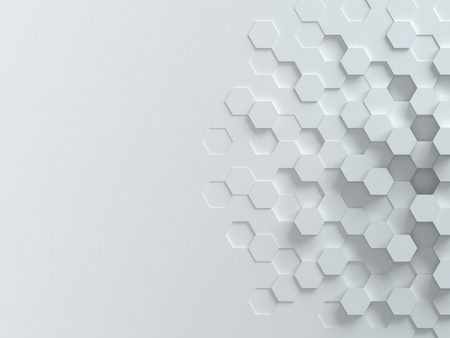 technology banner: hexagonal abstract 3d background