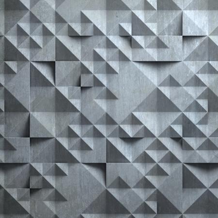 geometrical pattern: concrete wall with geometrical 3d pattern