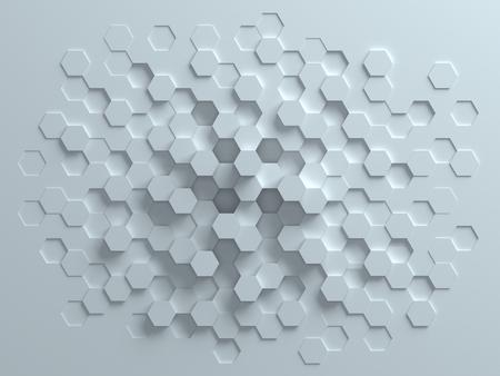 geometría: hexagonal 3d abstracto de fondo Foto de archivo