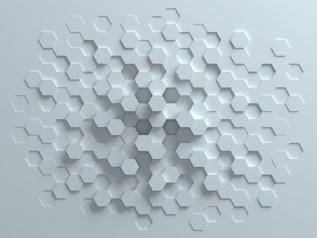 digital background: hexagonal abstract 3d background