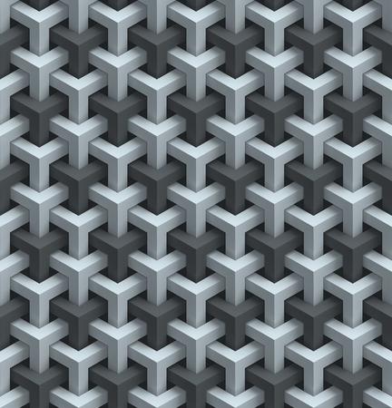 geometric shapes: seamless wall panels 3d background