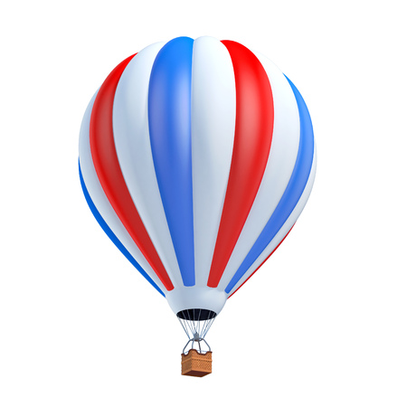 hot: air balloon 3d illustration