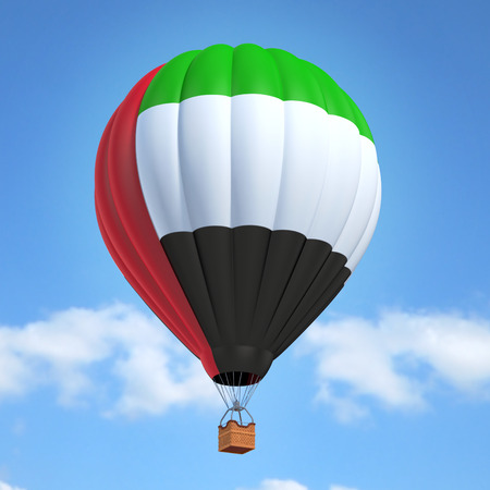 hot: Hot air balloon with United Arab Emirates flag