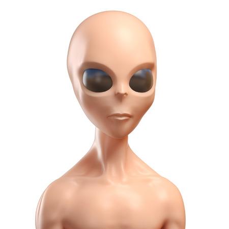 invader: Alien 3d illustration