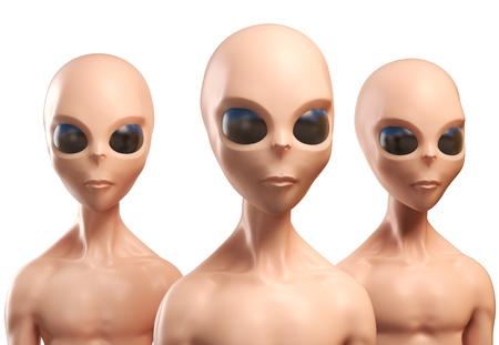 alien head: Aliens 3d illustration