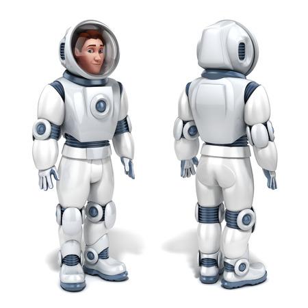 solider: astronaut 3d illustration