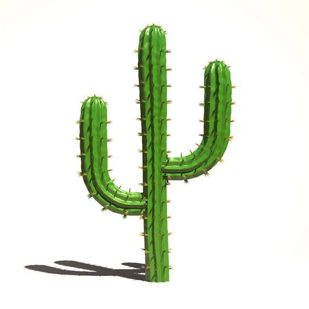 3d: Cactus 3d illustration Stock Photo