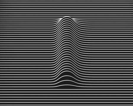 linear 3d font letter I