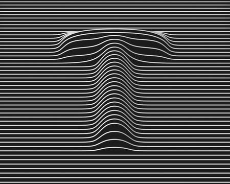 linear 3d font letter T Standard-Bild