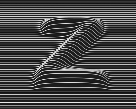 letter z: linear 3d font letter Z