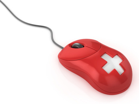 technology symbols metaphors: first aid computer mouse
