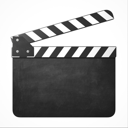 movie clapper with copy space