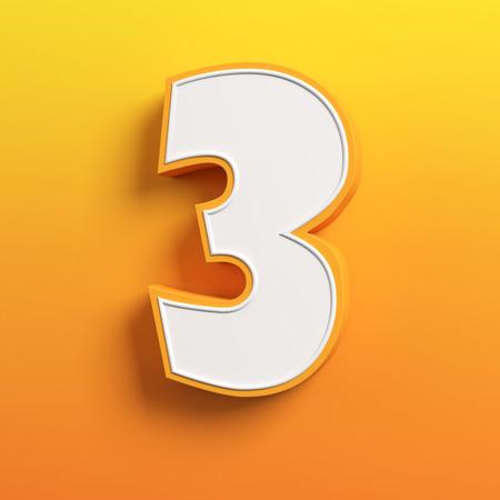 simbolo: cartone animato carattere 3d lettera 3
