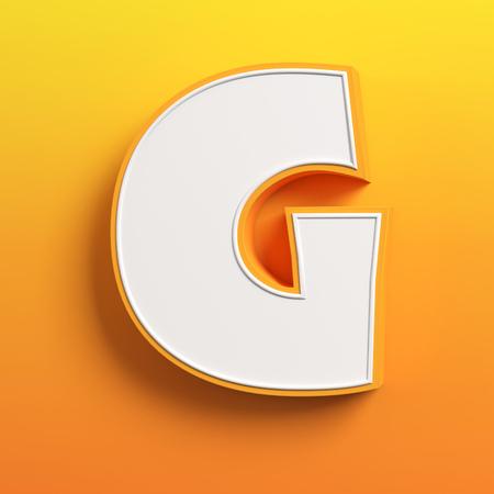 v alphabet: cartoon 3d font letter G