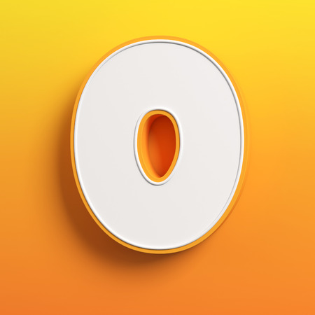 write a letter: cartoon 3d font letter O