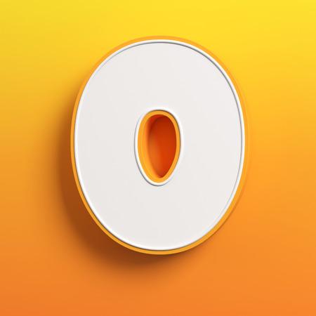 tipos de letras: de dibujos animados 3D fuente letra O